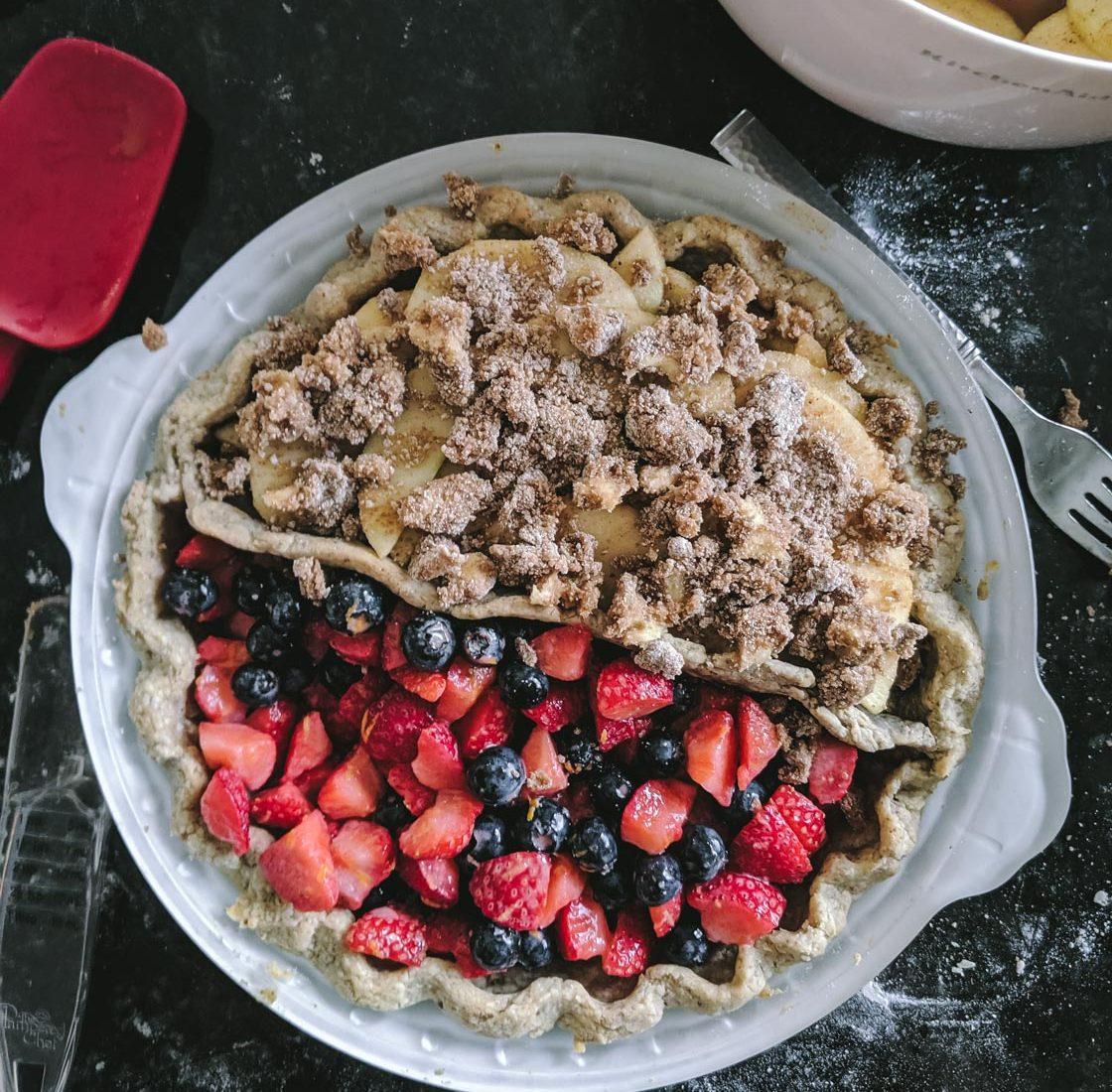 Gluten Free Berry and Apple Pie