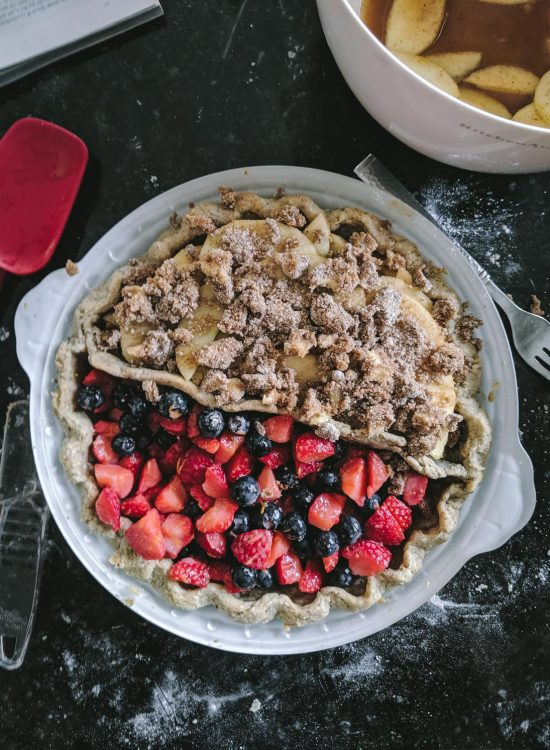 Gluten Free Berry and Apple Pie