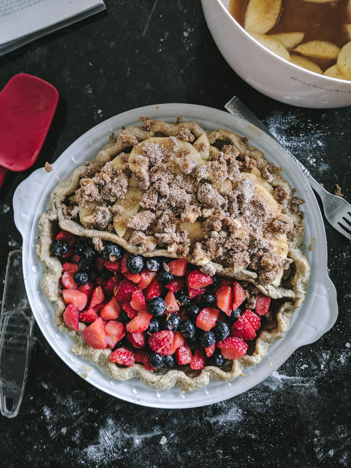 Gluten Free Berry and Apple Pie Recipe • Go Messy or Go Hungry