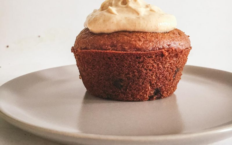 Pumpkin Chocolate Chip Cupcakes {gluten free, low FODMAP}