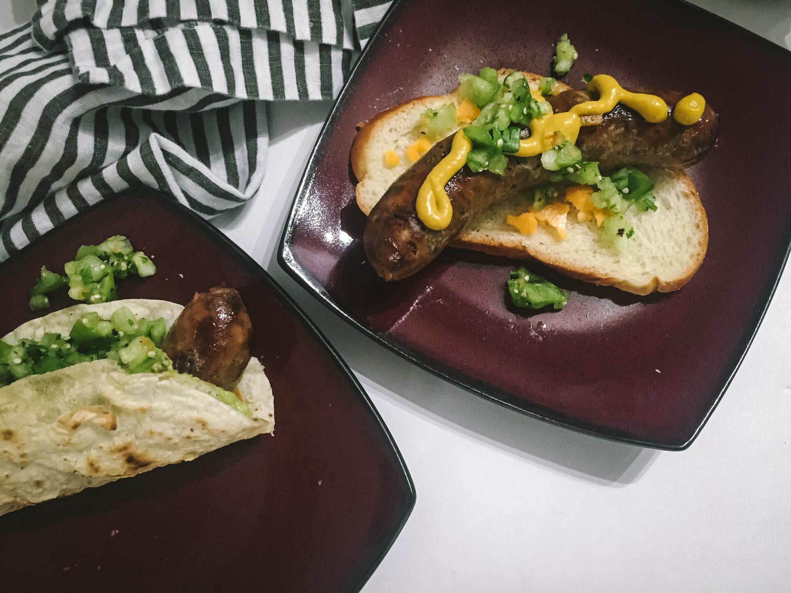 Brats with Tomatillo Relish | Go Messy or Go Hungry