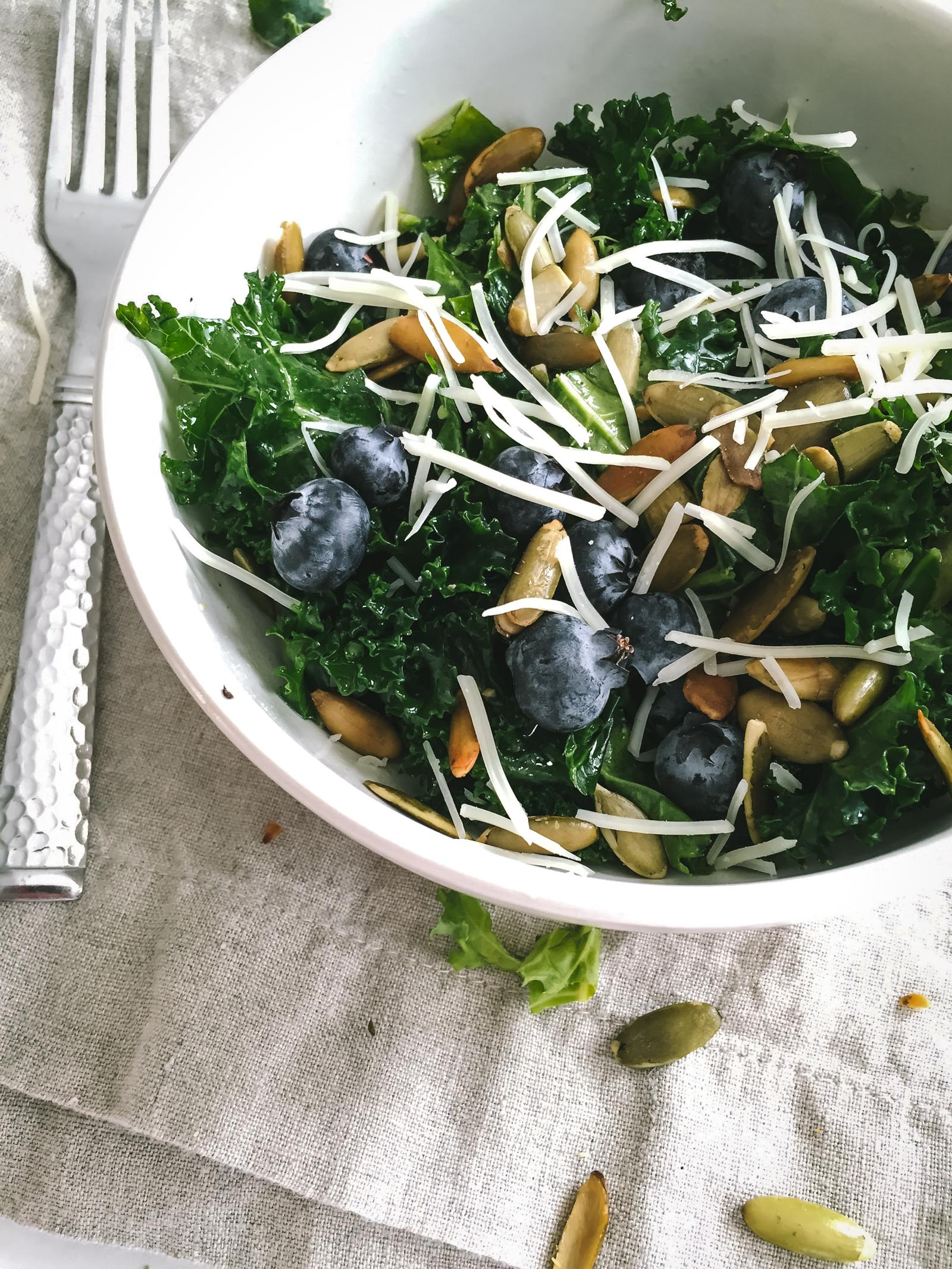 Kale and Blueberry Salad | Go Messy or Go Hungry