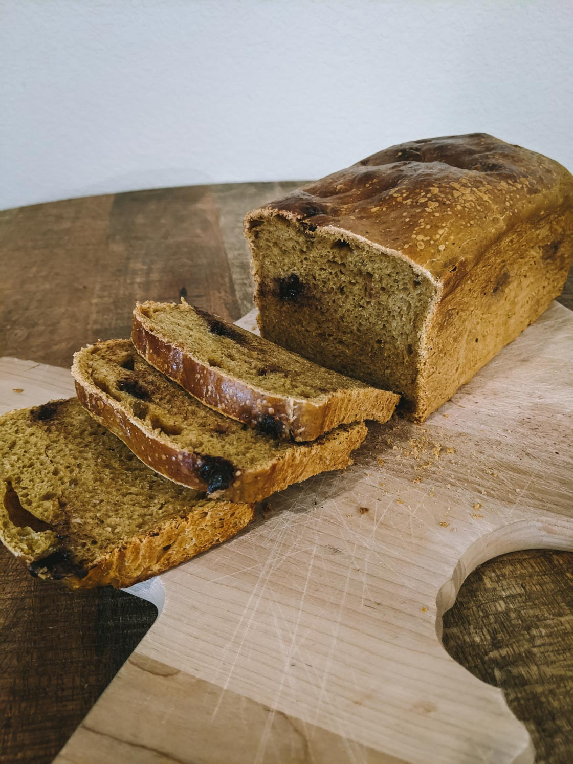 Pumpkin Chocolate Chip Sourdough Bread