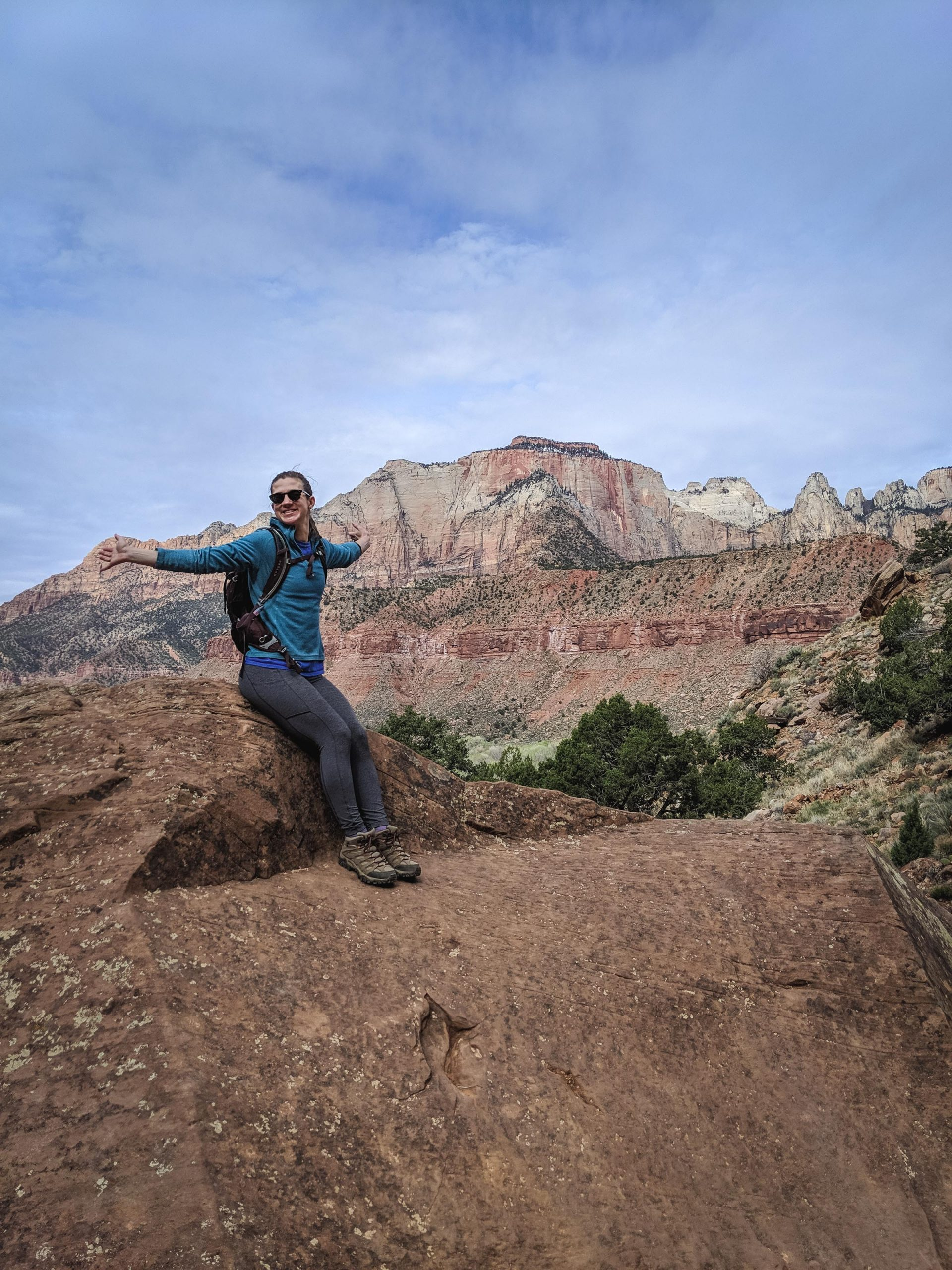 The watchman trail in Zion National Park | Go Messy or Go Hungry