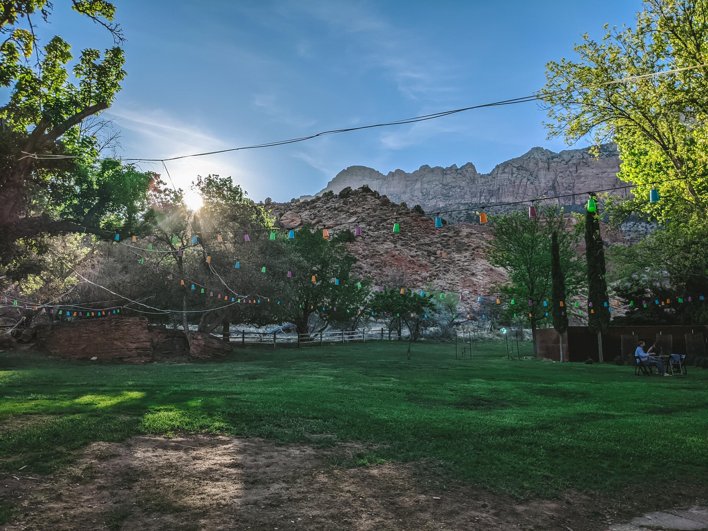 Garden at Bit and Spur in Zion National Park