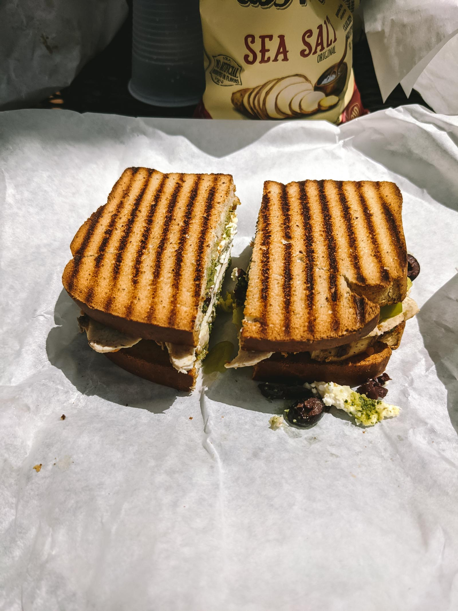Sandwich from Cafe Soleil in Zion National Park