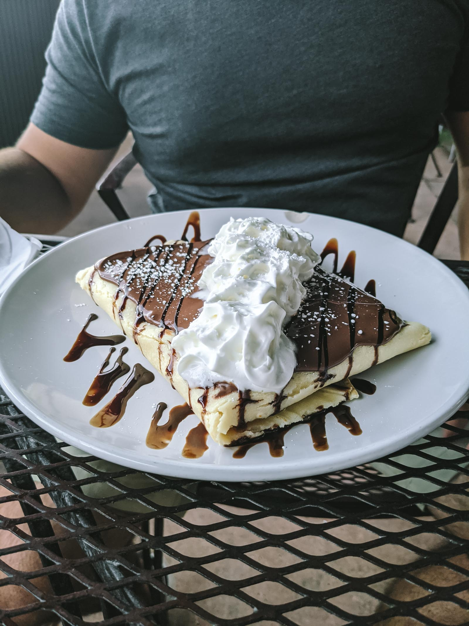 Crepes from MeMe's Cafe in Zion National Park