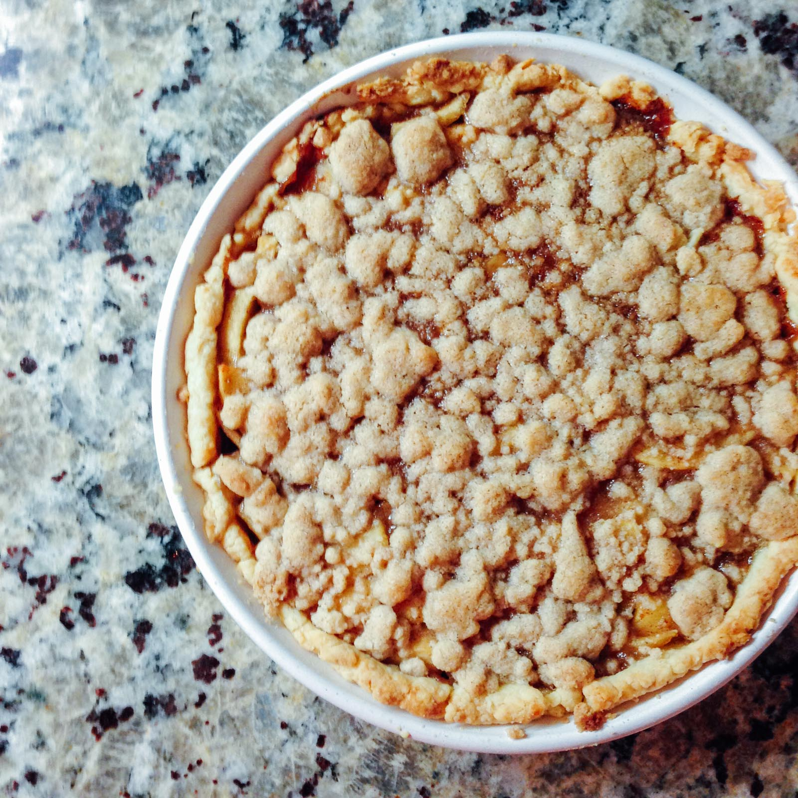 Sad gf pie attempt with crumble topping