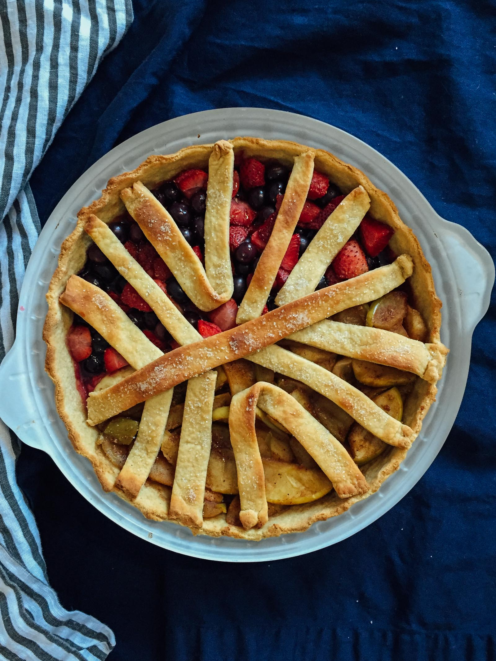 Sad yeasted pie attempt